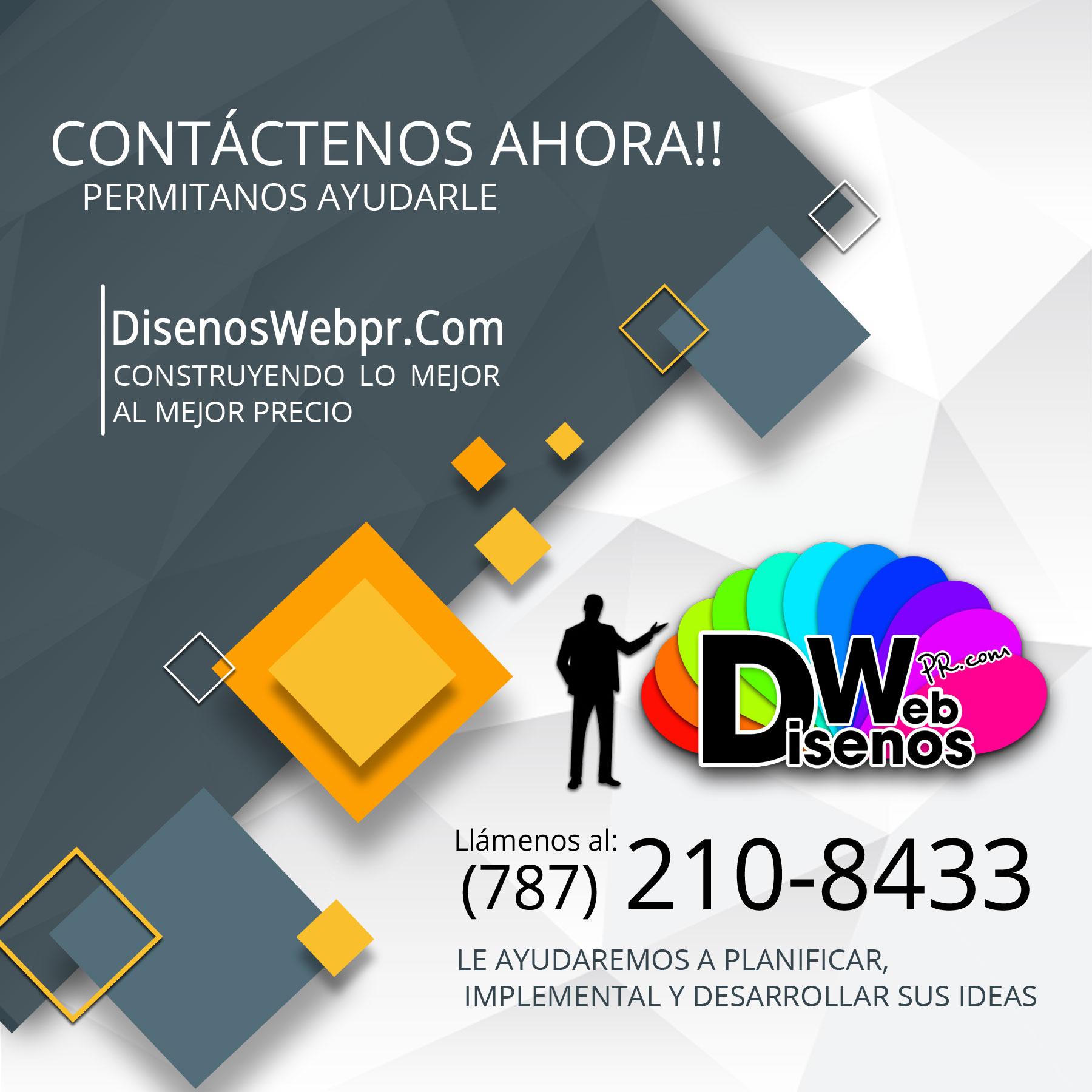 Diseñoswebpr.Com Contáctenos ahora